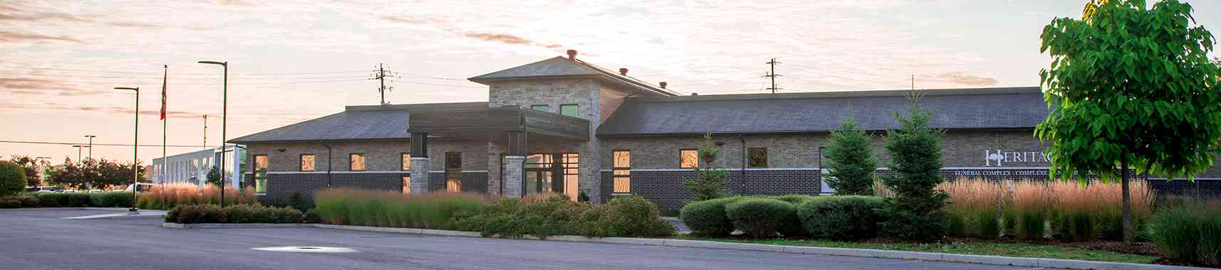 Exterior view of Heritage Funeral Home in Ottawa and Orléans
